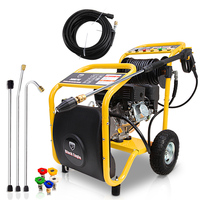 Petrol High Pressure Washer w/ 30m Hose 3000PSI