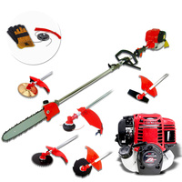 3-in-1 4 Stroke Petrol Pole Chainsaw Brush Cutter