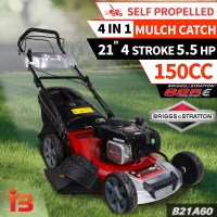 Petrol Self Propelled Mulch & Catch Lawn Mower 21in