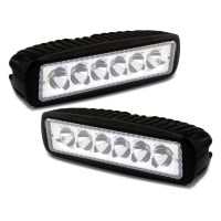 2x LED Light Bars w/ Spot Beam 6in 48W 12-24V