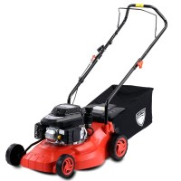 Black Eagle Hand Push Petrol Lawn Mower 16in 5HP