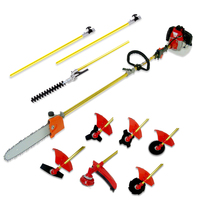 10 in 1 Petrol Pole Saw Chainsaw Hedge Trimmer 52cc