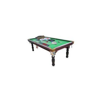 8ft Snooker Billiard Pool Table w/ Table Tennis Top