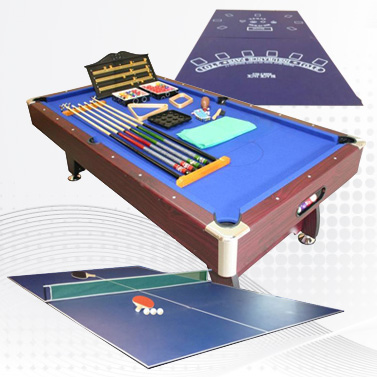 MDF Full Pool Table With Table Tennis Table Top 8FT OLD LISTING