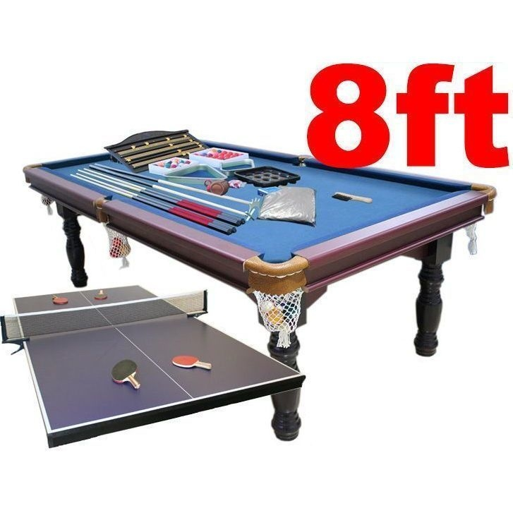 8ft Pool Snooker Billiard Table W Table Tennis Top Buy Gifts For
