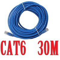 CAT6 Ethernet LAN Network Cable 30m 90 Feet in Blue