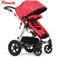 Pouch 2-in-1 Baby Pram Stroller w/ Bassinet in Red