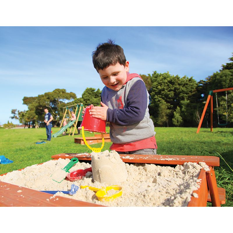 2 In 1 Picnic Table And Kids Sandbox Wooden Sandpit