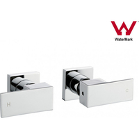 Square Shower & Bath Mixer 1/4 Turn Tap Set Chrome