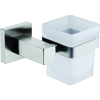 Square Glass Tumbler Toothbrush Holder Skidproof