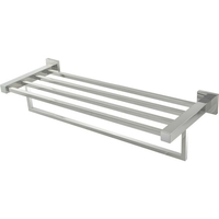 Bathroom Square Double Towel Rail Stainless Steel