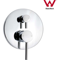 Wall Mount Round Shower Mixer Tap & Diverter Chrome