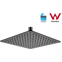 Stainless Steel Slim Square Shower Head Black 10in