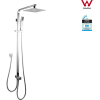 Square Shower Set with Handheld Spray Head 8in Slim