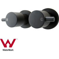 Wall Mounted Round 1/4 Turn Lollipop Taps in Black
