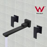 Swivel Bath Spout with 1/4 Turn Taps Set in Black