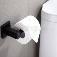 Stainless Steel Bathroom Toilet Paper Holder Black