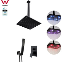 10in LED Shower Head w 400mm Arm Handheld & Mixer