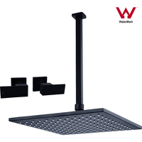 8in Shower Head with 400mm Ceiling Arm & Twin Taps