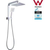 8in Square Shower Head w/ Diverter Handheld Spray