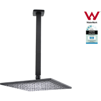 10in Square Shower Head w/ 400mm Ceiling Arm Black