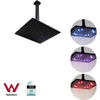 10in LED Shower Head w/ 200mm Ceiling Arm Black