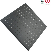 10in Square Swivel Shower Head in Matte Black