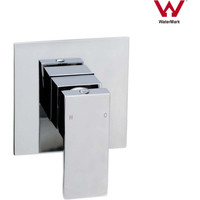 Cubic Square Shower Wall Mount Mixer Tap in Chrome