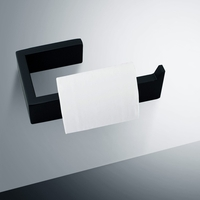 Modern Bathroom Toilet Paper Holder in Matt Black