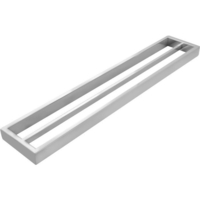 Square Double Bar Towel Rail Rack in Chrome 600mm