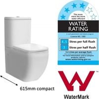Compact Ceramic Dual Flush Toilet Suite in White