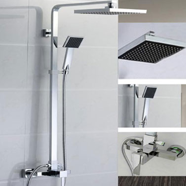 Drip Free Chrome Rain Shower Head With Shower Hose Buy