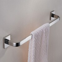 Single Stainless Steel Towel Rail Rack Chrome 660mm