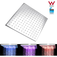 LED Chrome Water Saving Rainfall Shower Head 10in