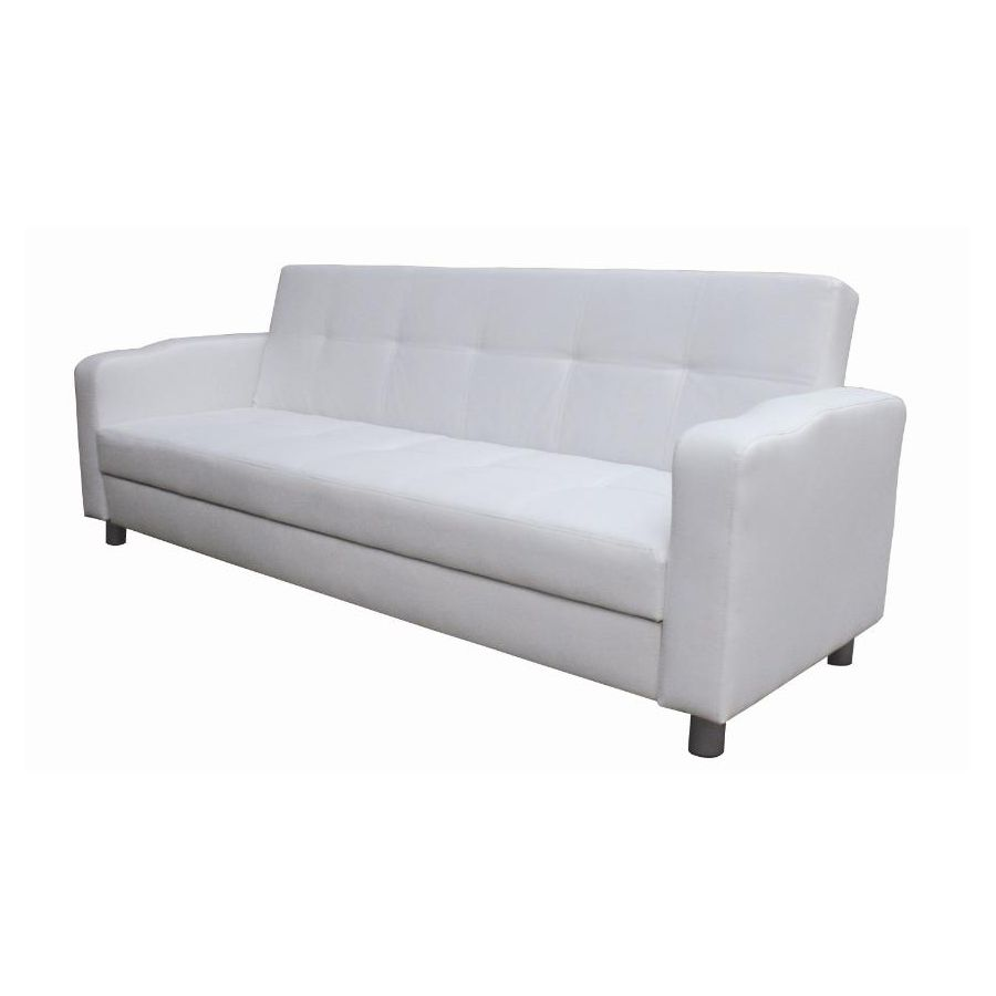 Classic Pull Out Futon Sofa Bed in White PU Leather Buy  : 114whitesofa2 from www.mydeal.com.au size 900 x 900 jpeg 22kB