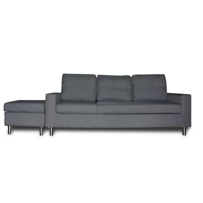 3 seater couch w chaise lounge or ottoman in grey buy sofas for 3 seater couch with chaise