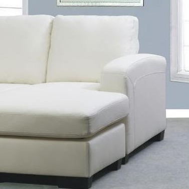 White bonded leather sofa couch with chaise lounge buy for Bonded leather chaise lounge