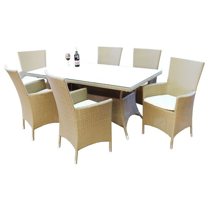 Geelong 6 Seater Wicker Outdoor Dining Setting Buy