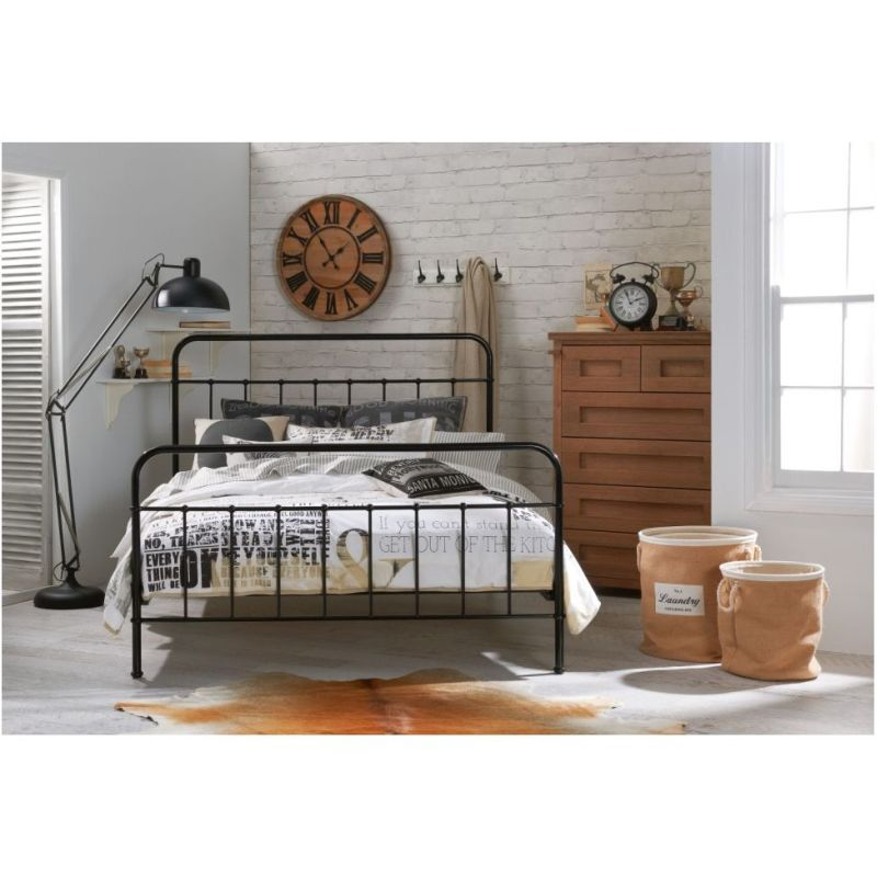 Jessica King Size Metal Bed Frame In Black Buy Bedroom