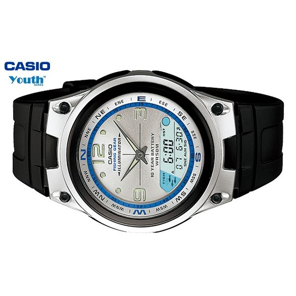 Casio youth series fishing gear mens watch buy men 39 s for Casio fishing watch