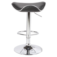 2x Moulded Gas Lift PU Leather Bar Stools in Black
