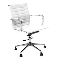 Executive Eames Replica Mid Back White Office Chair