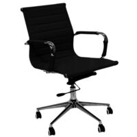 Executive Eames Replica Mid Back Office Chair Black