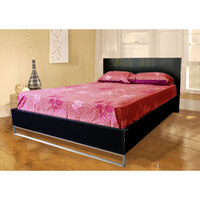 Prado Queen Size Wood & Steel Black Bed Frame