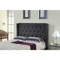 Milano Queen Size Bed Headboard Charcoal Fabric MDF