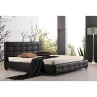 Double Size PU Leather Quilted Bed Frame in Black