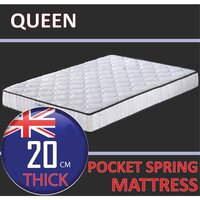 Queen Size Quilted Damask Pocket Spring Mattress