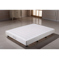 King Size Fabric Upholstered Slatted White Bed Base