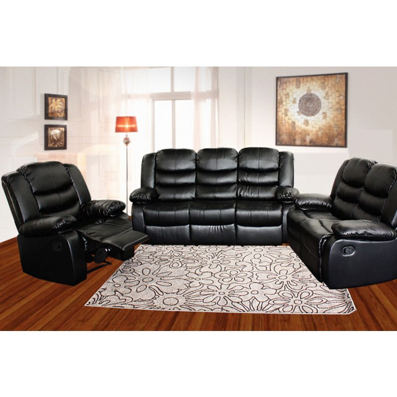 2 Seat Recliner Couch Chair In Black Bonded Leather Buy