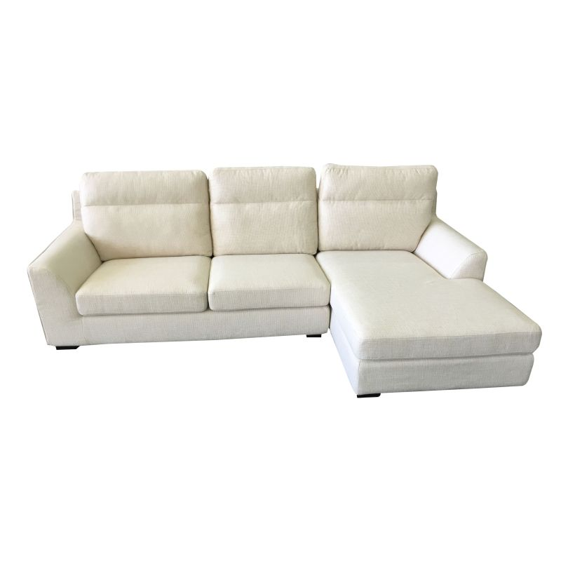 Ashley 3 seat sofa with chaise lounge in beige buy for 1 seater chaise lounge